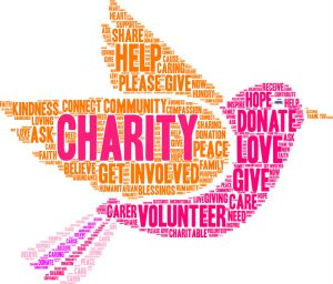 charity dove word cloud image