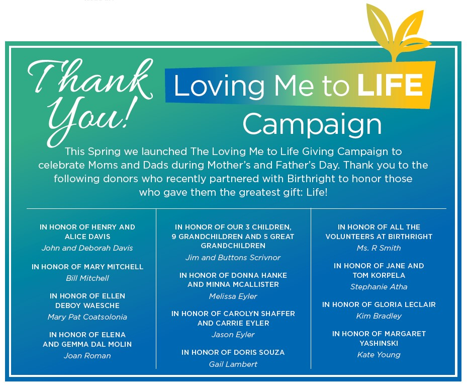 Loving Me to Life Campaign Thank You Card